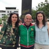 (dgàd) Adília Martins de Carvalho - Directrice du CCP Luxembourg Pedro Amaral - Artiste du duo d'artistes 'Borderlovers', Pedro Amaral et Ivo Bassanti